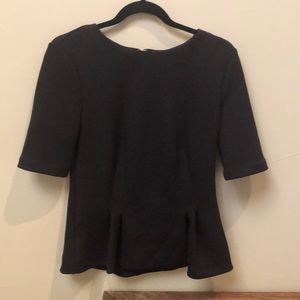 Ann Taylor Black peplum blouse.